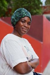 Chantal, présidente et choréhraphe de l'association Difé Kako